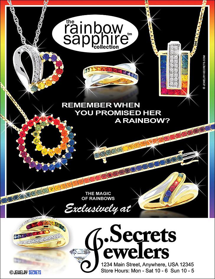 Rainbow Sapphire Collection Ad Sample Advertisement