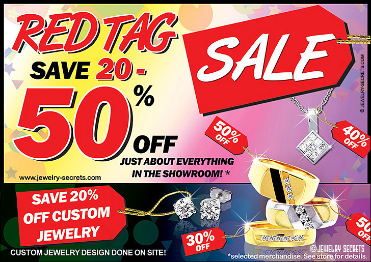 Jeweler's Red Tag Inventory Sale Sample Advertisement