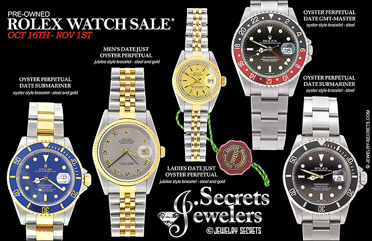 Pre-Owned Rolex Watch Sample Advertisement