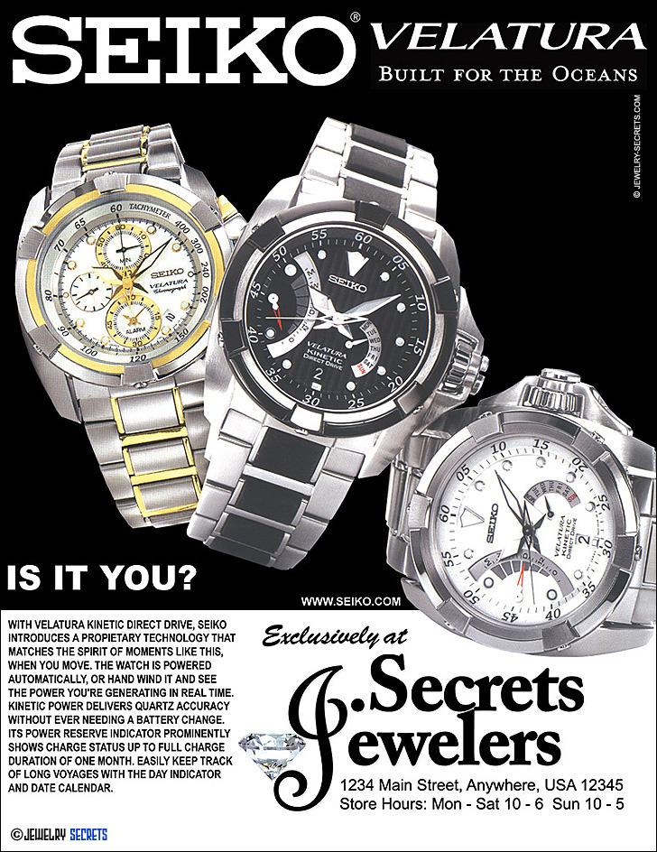 Seiko Velatura Watch Sample Advertisement