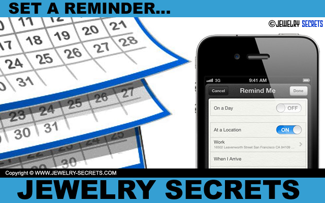 Set A Reminder In Your Smart Phone About Diamond Cleanings And Inspections
