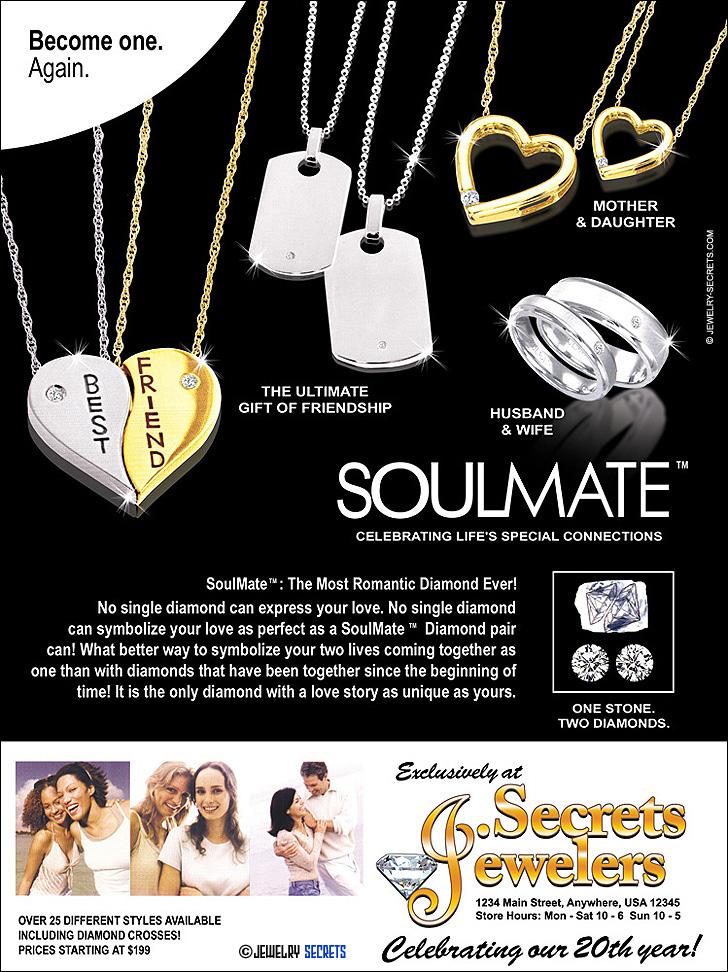 Soulmate Diamond Ad Sample Advertisement