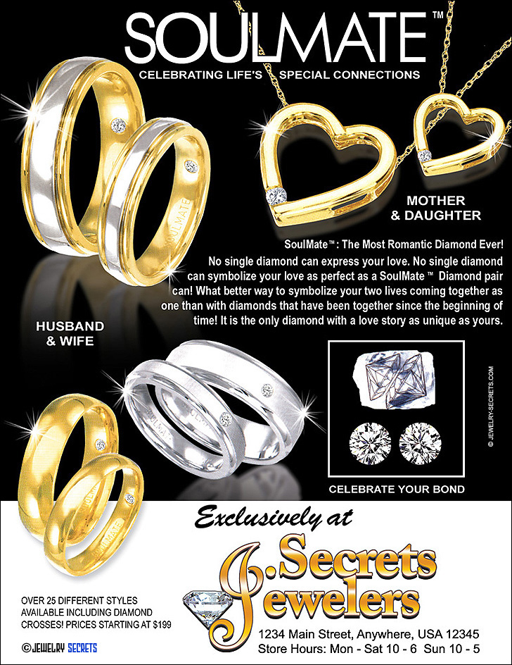 Soulmate Jewelry Sample Advertisement