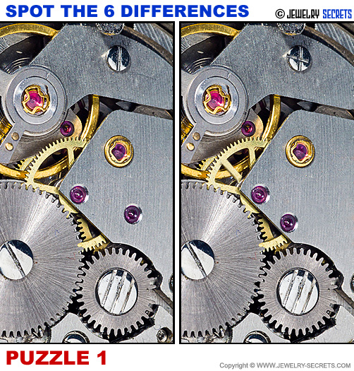 Spot The 6 Differences Fun Jewelry Puzzle 1