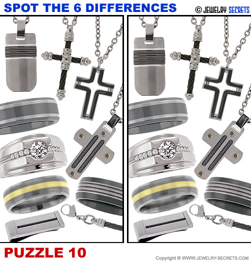 Spot The 6 Differences Fun Jewelry Puzzle 10