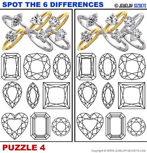 Spot The 6 Differences Fun Jewelry Puzzle 4