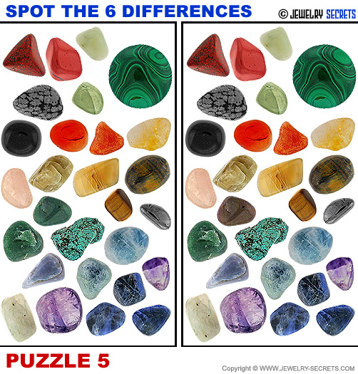 Spot The 6 Differences Fun Jewelry Puzzle 5