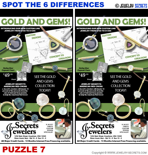 Spot The 6 Differences Fun Jewelry Puzzle 7