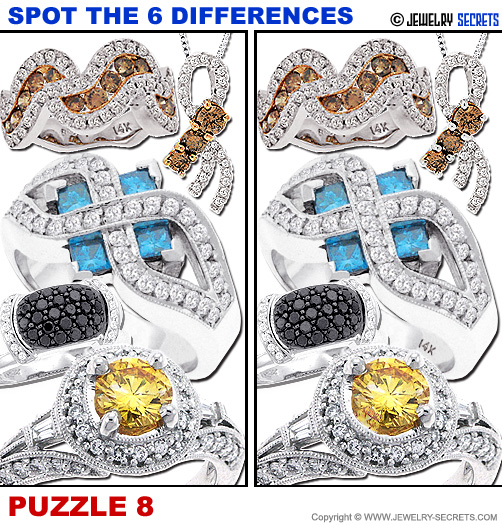 Spot The 6 Differences Fun Jewelry Puzzle 8