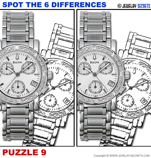 Spot The 6 Differences Fun Jewelry Puzzle 9