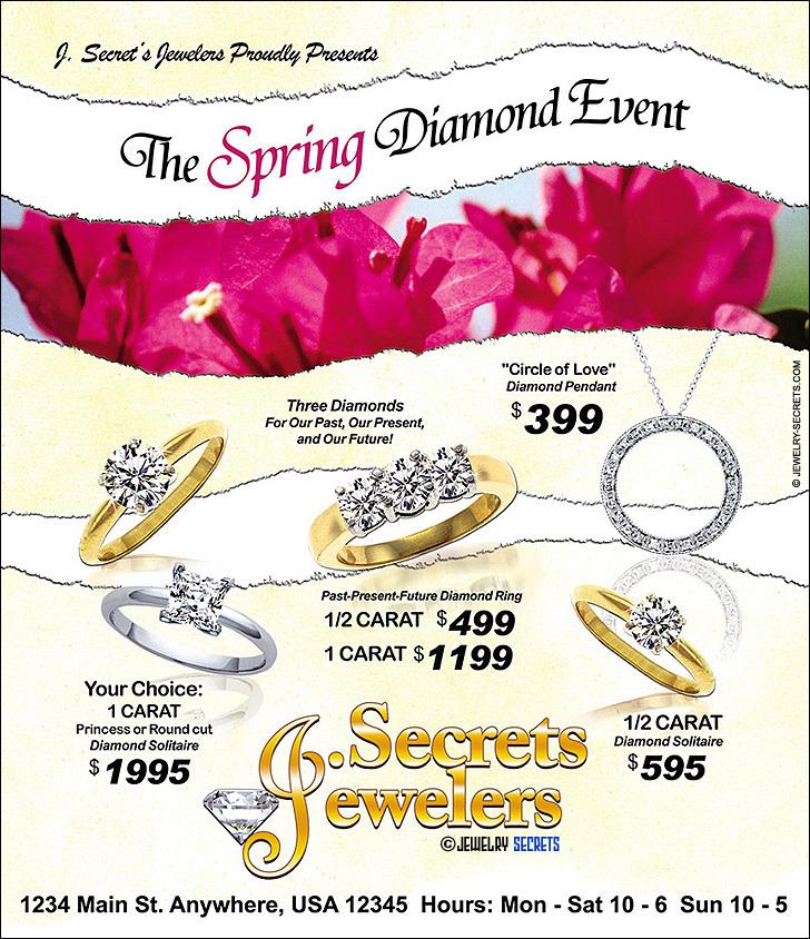 Spring Diamond Event Ad Sample Advertisement