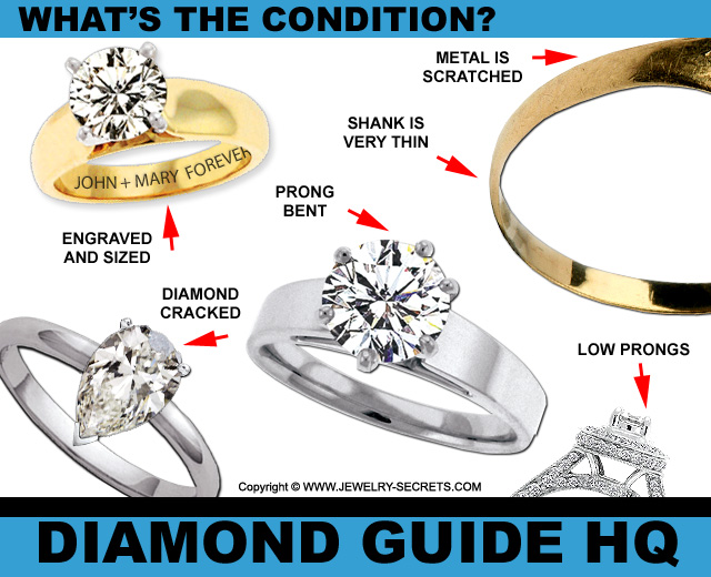 What's the Condition of the Second Hand Diamond Ring?
