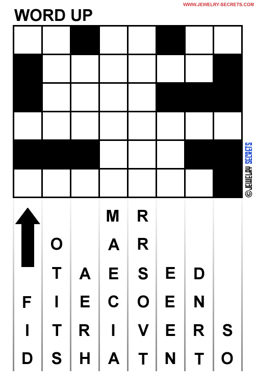 Fun Free Word Up Puzzle