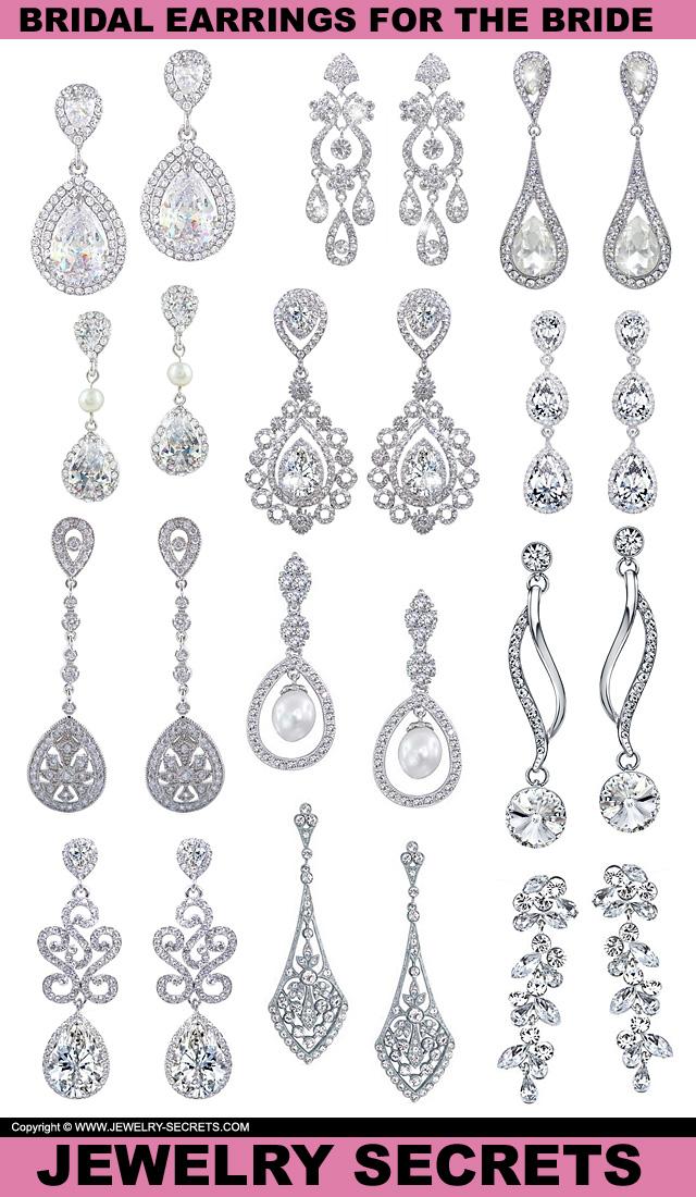 Beautiful Dangle Diamond Bridal Earrings For The Bride