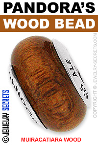 Pandora Muiracatiara Wood Bead!