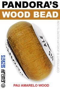 Pandora Pau Amarelo Wood Bead!