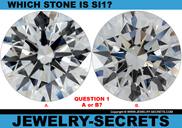 Questions 1 SI1 Clarity or Flawless Diamond?