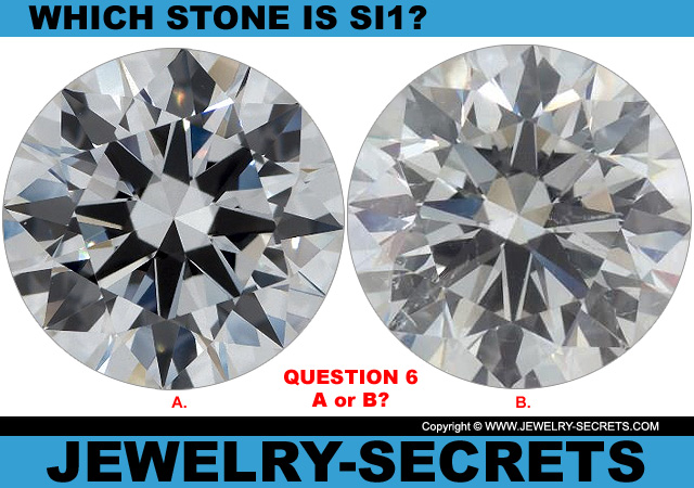 Questions 6 SI1 Clarity or Flawless Diamond?