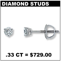 033 CT Diamond Stud Earrings!