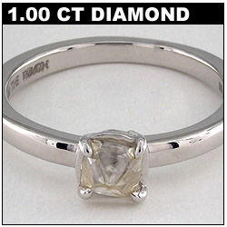 1 Carat Rough Diamond Solitaire