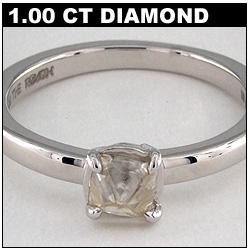 1 Carat Rough Diamond Solitaire
