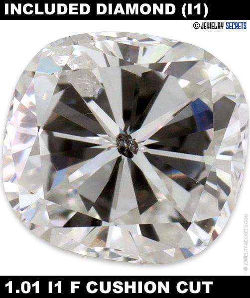 1.01 I1 F Cushion Cut Diamond