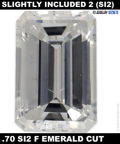 .70 SI2 F Emerald Cut Diamond