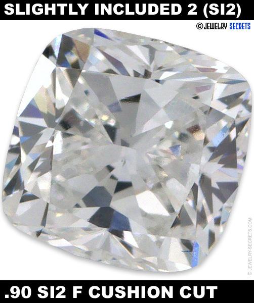 .90 SI2 F Cushion Cut Diamond