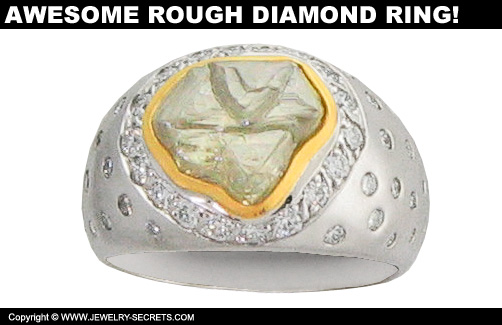 Awesome Rough Diamond Ring!