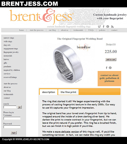 Brent and Jess Fingerprint Jewelry!