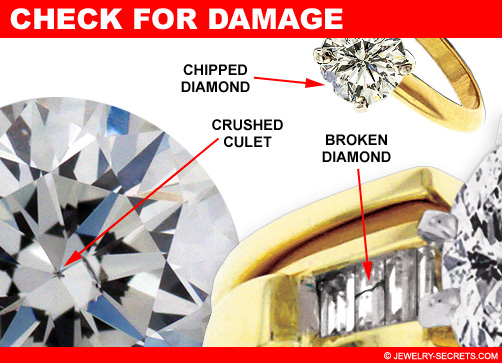 Check the Diamond for Chips, Cracks and Damage