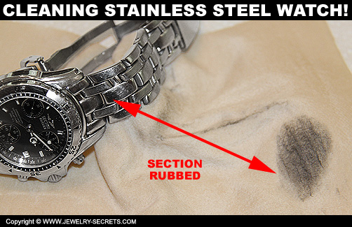 Cleaing Stainless Steel Watch with Cleaning Cloth!