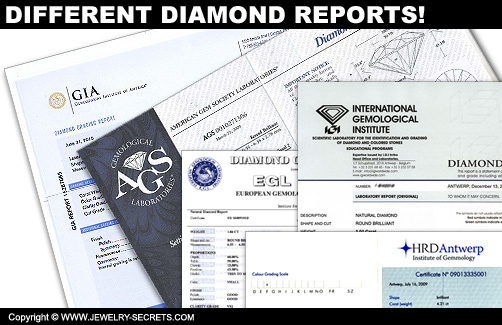 Different Diamond Certificates!
