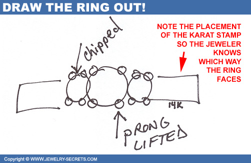 Draw out Ring on Repair Slip!
