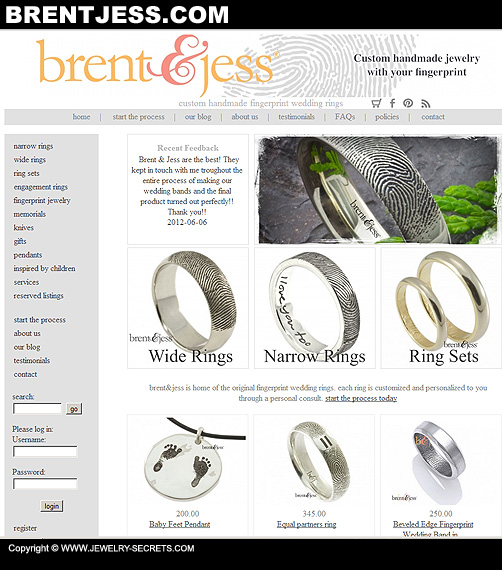 Fingerprint Jewelry Website!