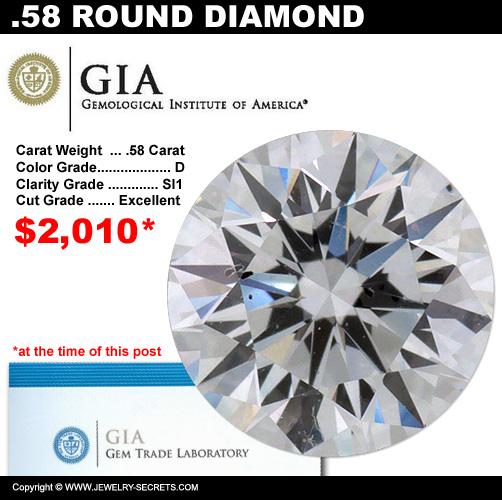 .58 Carat Loose Certified Diamond Sale!