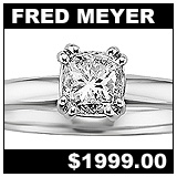 Fred Meyer Jewelers 3/4 Carat Diamond Solitaire Ring!