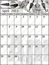Free April 2013 Calendar!