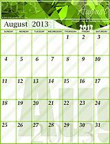 Free August 2013 Calendar!