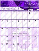 Free February 2013 Calendar!