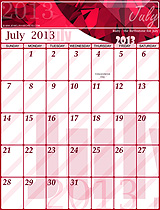 Free July 2013 Calendar!