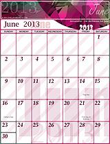 Free June 2013 Calendar!