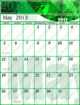 Free May 2013 Calendar!