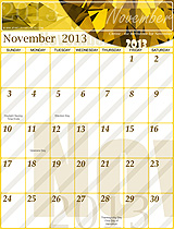 Free November 2013 Calendar!