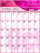 Free October 2013 Calendar!