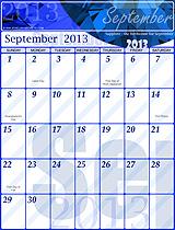 Free September 2013 Calendar!