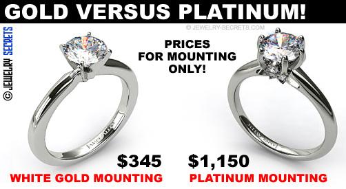 White Gold Versus Platinum Engagement Ring