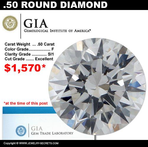 .50 Carat Loose Certified Diamond Sale!