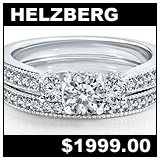 Helzberg 1 Carat Diamond Wedding Set!