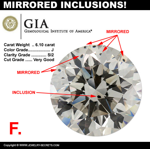 Inclusion Reflects Multiple Times in Diamond!